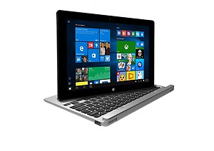Lava twinpad 10.1-inch 2-in1 Touchscreen Laptop (T100/2GB/32GB/Windows 10/Integrated Graphics/Smart Pouch), Silver price in India.
