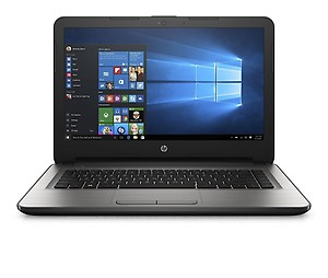 HP 14 HP 14-AM 081TU Netbook Core i5 (6th Generation) 4 GB 35.56cm(14) Windows 10 Home Not Applicable Silver price in India.
