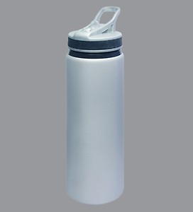 Wa.Ter Easy Carry Grey Stainless Steel Sipper Bottle