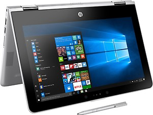 HP X360 11-AD022TU Hybrid (2 in 1) Core i3 (7th Generation) 8 GB 29.46cm(11.6) Windows 10 Home without MS Office Not Applicable SILVER price in India.