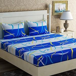 70% off - Zesture Cotton Abstract Double Bedsheet  @Flipkart