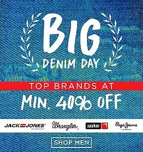 Minimum 40% off on clothing on Denim Fest