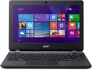 "ACER Aspire ES1-131-C8RL,NX.MYKSI.009  Celron dualcore ,2GB DDR3 ,500GB , 11.6"" LED, windows 10,Black price in India."