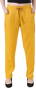 Q-Rious Regular Fit Women's Yellow Trousers