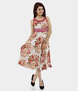 Shakumbhari Red Cotton Dresses