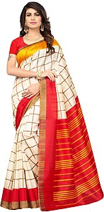 Oomph! Striped Bhagalpuri Raw Silk Saree