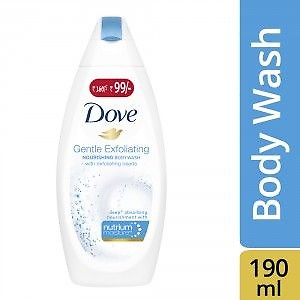 Dove Gentle Exfoliating Body Wash (Rs. 61/- Off) + Free Loofah