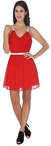 La Zoya Women's Fit and Flare Red Dress