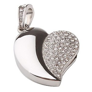942d593f1 Silver Heart Cool Fancy USB Flash 8 GB Pen Drive (Price in India). Lowest  Price