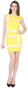 La Zoya Women's Fit and Flare Yellow Dress