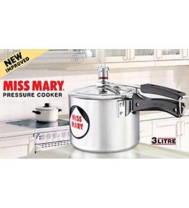 Hawkins Miss Mary Aluminium 3 L Pressure Cooker