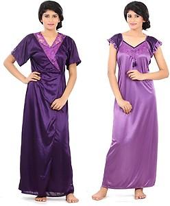 Fashigo Women's Nighty with Robe
