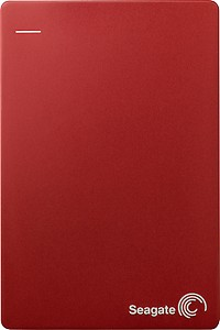 Seagate Backup Plus Slim 1 TB External Hard Disk (Red)