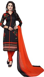 FastColors Synthetic Printed Salwar Suit Dupatta Material