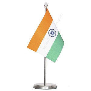 Single Indian Flag for car /Office/Table
