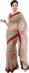 Indrani Solid Bollywood Chiffon Saree