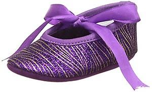 Barbie Baby Girl's Purple Booties - (3-6 months)