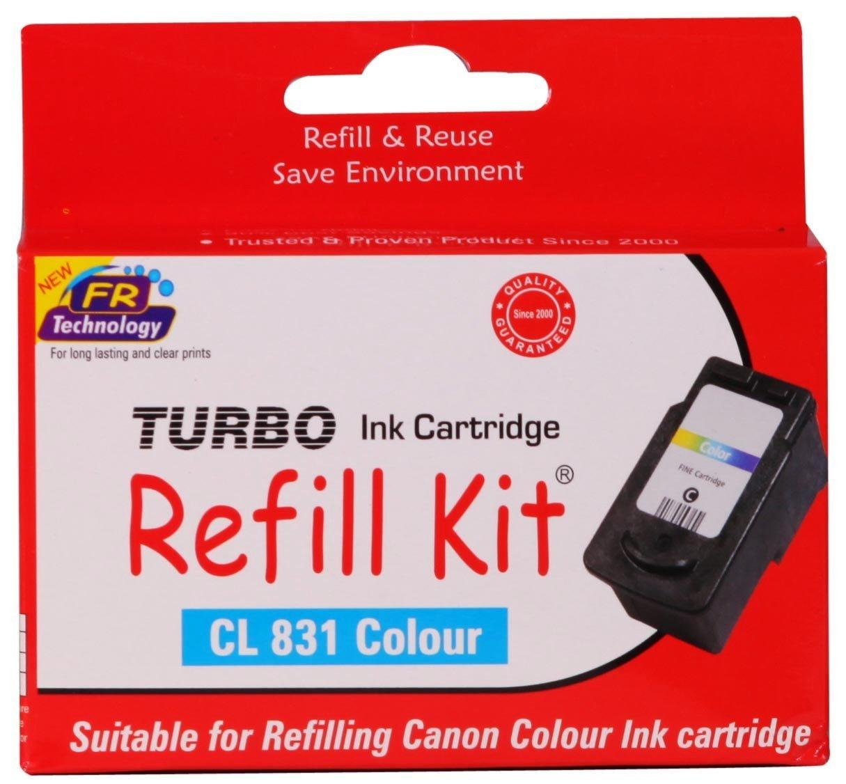 Turbo Refill Kit For Canon 831 Colour Ink Cartridge Price In India Tinta Cl 811 Original 100 Coupons And Specifications Amex