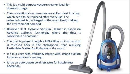 KENT CYCLONIC VACUUM CLEANER KC T 3520 Price In India Coupons And Specifications